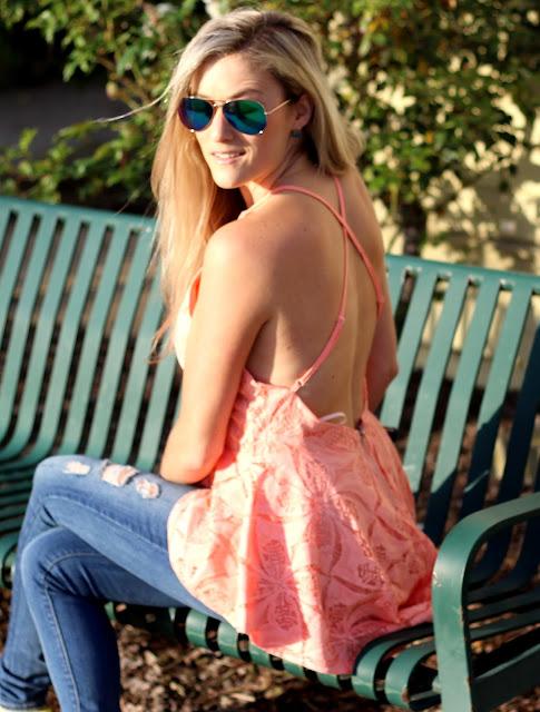 Peplum Lace Top, Lulus, East and Lo, Neon Heels, Lauren Merkin