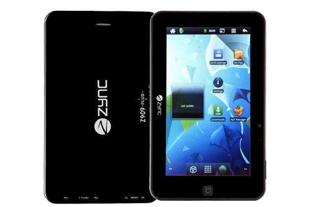 Zync Z-909 Plus Android Tablet In India For Rs. 3,699