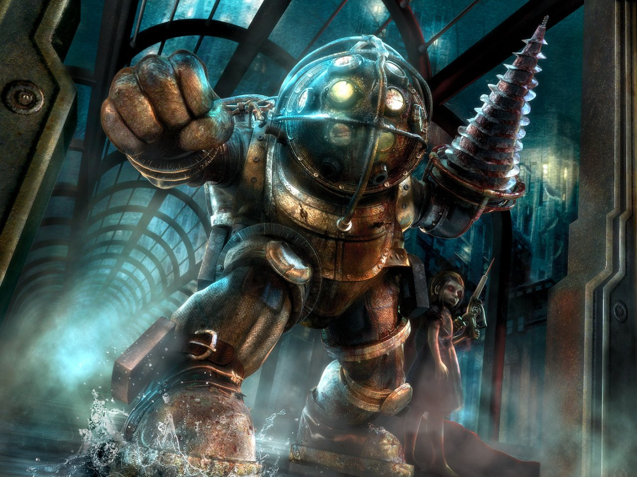 http://2.bp.blogspot.com/-TTLOcy5S4iY/UAOU_orrpgI/AAAAAAAABDM/y5Jt25fINsg/s1600/bioshock+bio+shock+big+daddy+protecting+little+sister+wallpaper+background+2k+fps+first+person+shooter+horror.jpg