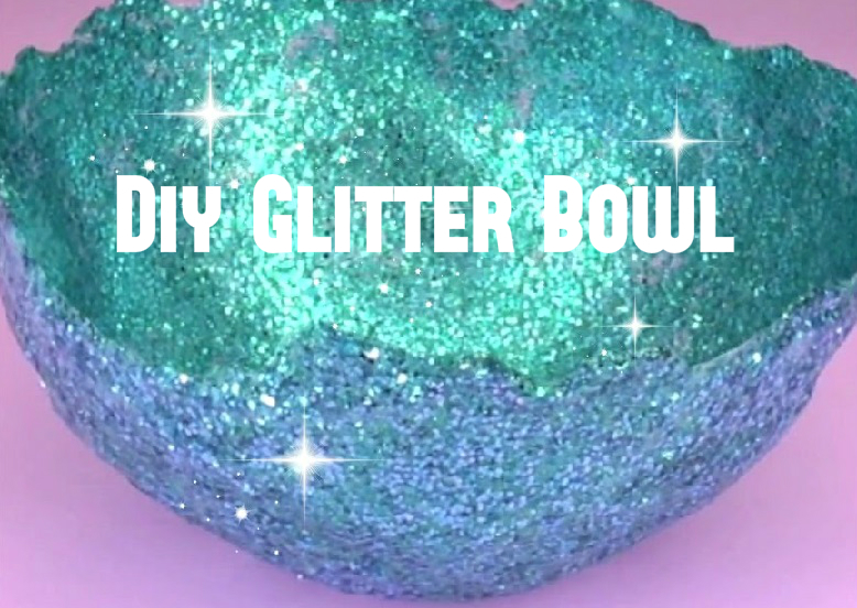 Diy glitter accent bowl for Glitter balloon bowl