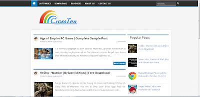 CrossTen Blogger Template Free Download