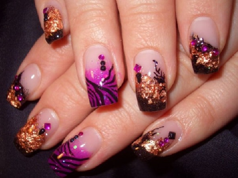 Nail salon designs nail salon art designs colorful for A new look nail salon