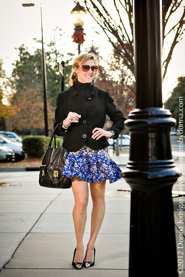 ASOS Trumpet hem skirt, Great-Grandmother's jacket, CAbi turtleneck, Michael Kors purse from J.T. Posh, the Queen City Style, Tory Burch pumps from summerbird, Blinde Sunglasses
