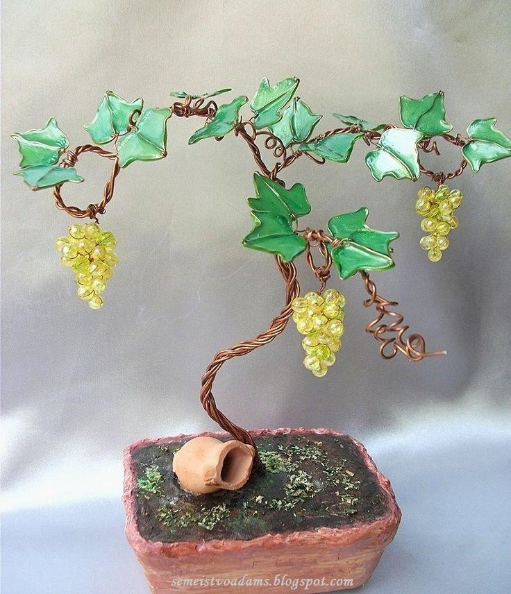 Как сделать дерево из проволоки и лака