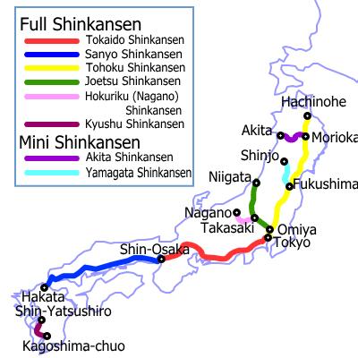 Know About Japan Before You Travel - Japan map bullet train