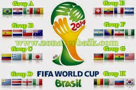 Jadwal Piala Dunia 2014 Lengkap Format Excel