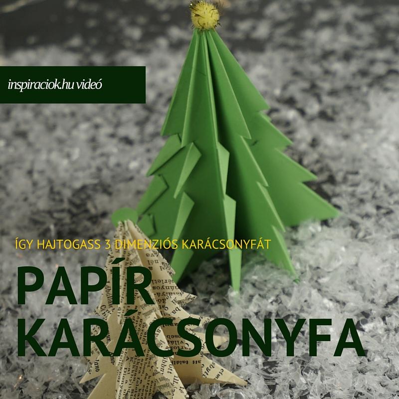Papír karácsonyfa hajtogatása