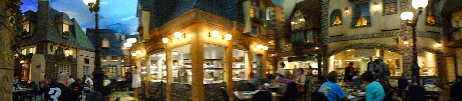A panoramic picture of Le Village in the Paris Hotel