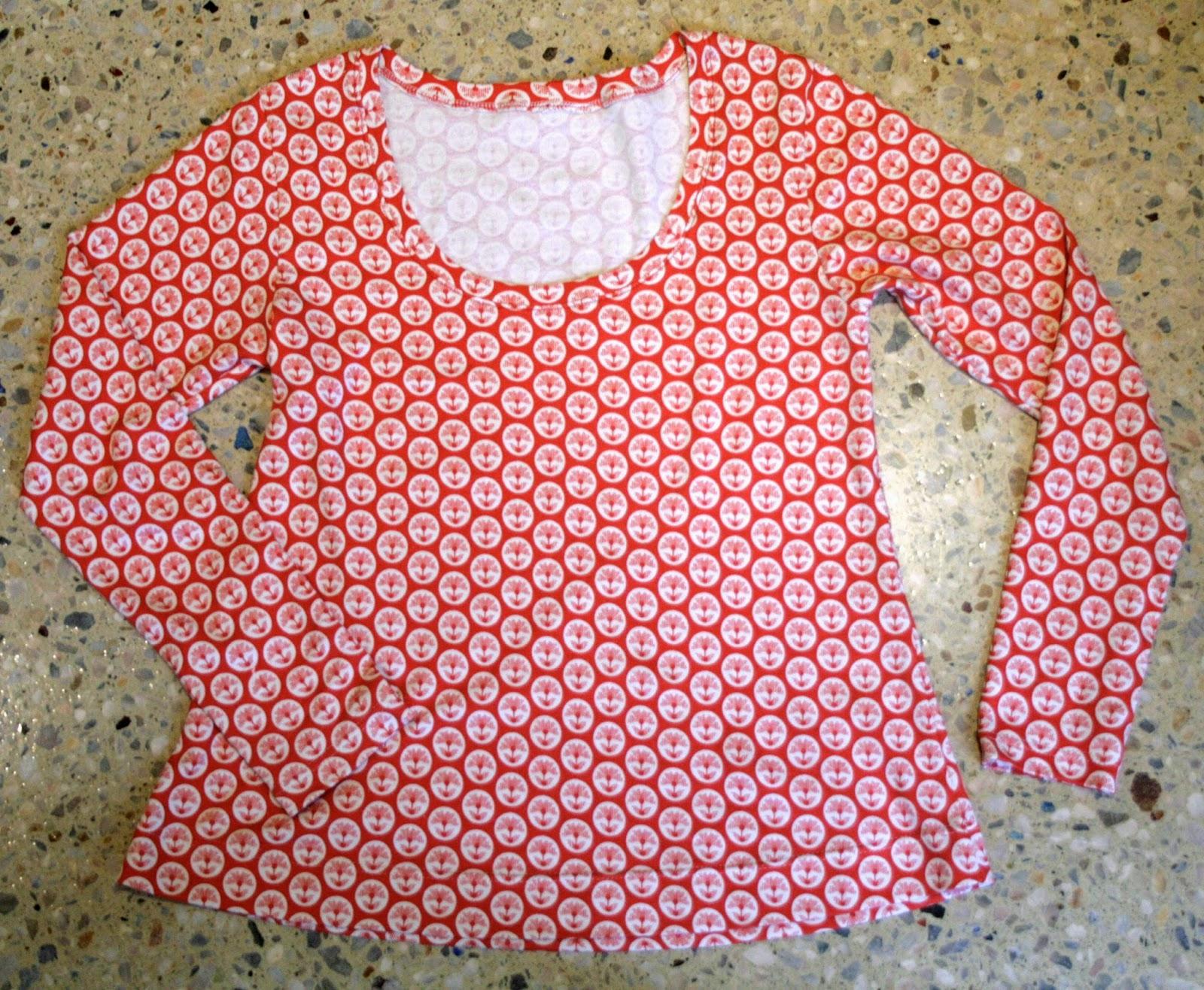 THE DRAPERY: Plantain top in Anna Maria Horner cotton interlock knit