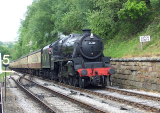 North Yorkshire Moors Railway, NYMR, Goathland, Black 5
