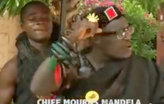 ghanaian chief mourns nelson mandela