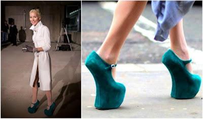 Daphne Guinness heel-less shoes