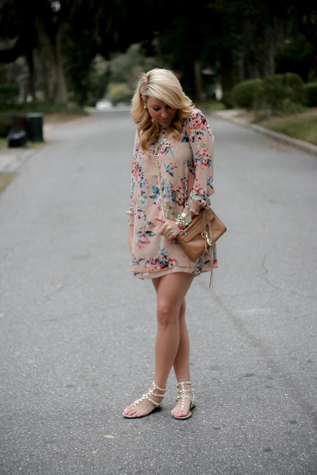 30cd8ef03ab Dress   Nancy Double Layer Bouquet Shift Dress