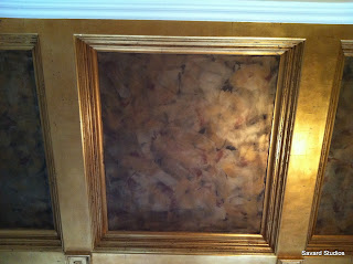 gold coffered trim