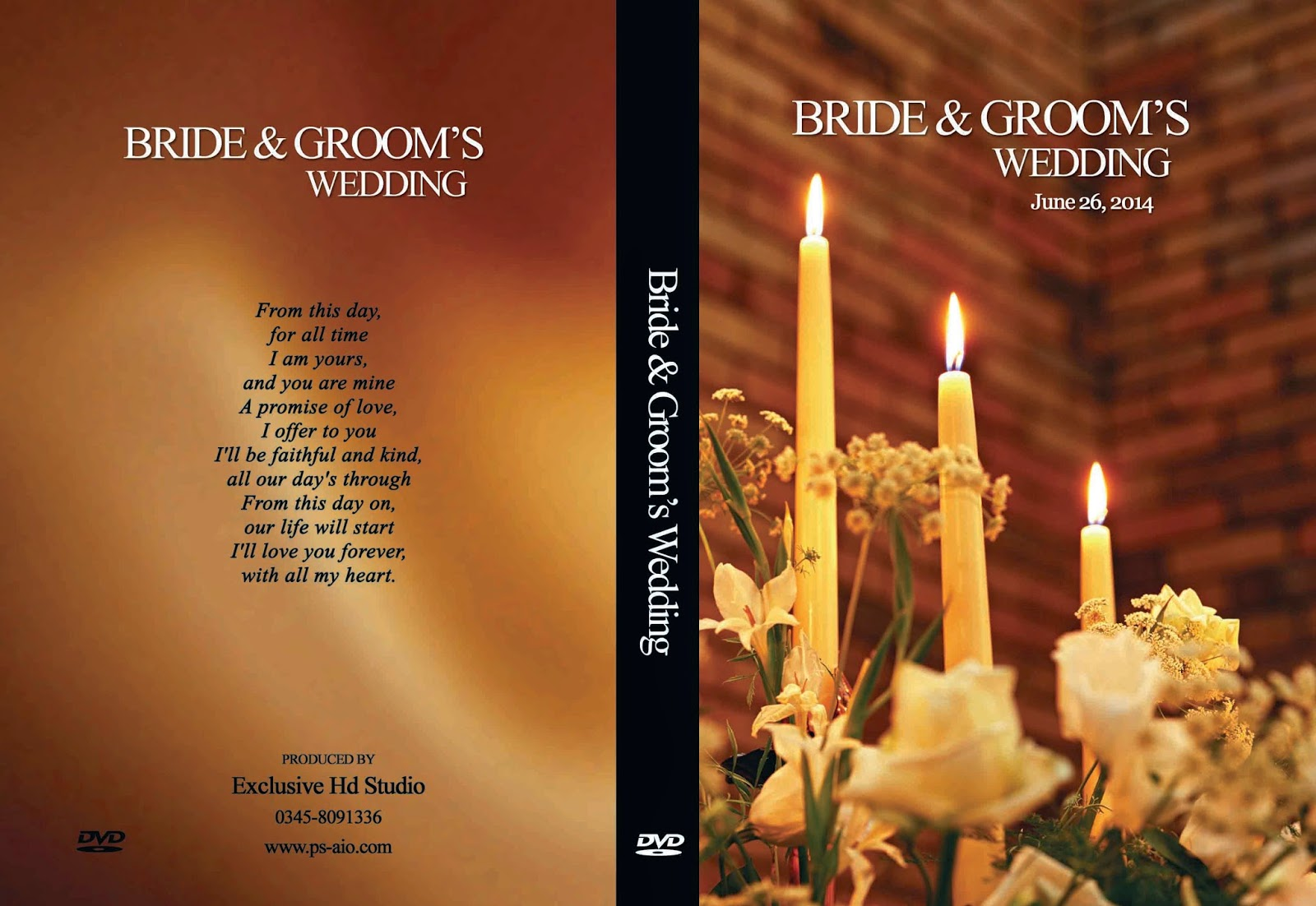 Photoshop Wedding Dvd Cover Psd High Resulation Free ...