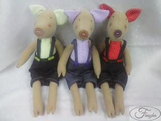 Ręcznie robiona świnka