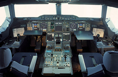 Jet Airlines Airbus A380 Cockpit