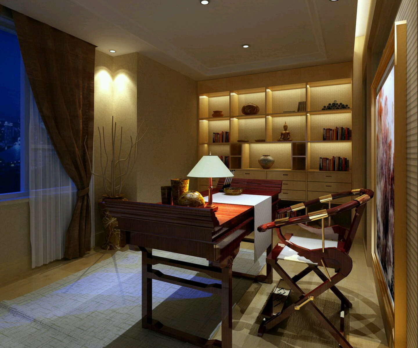 New Home Designs Latest Study Rooms Designs Ideas