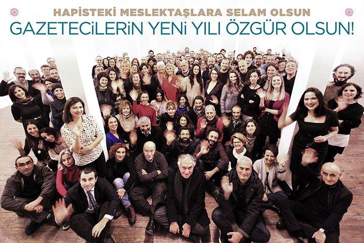 Οι μη φυλακισμένοι δημοσιογράφοι της Τουρκίας σας εύχονται καλή χρονιά
