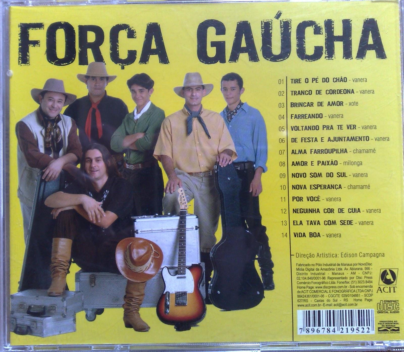 Resultado de imagem para CD - Força Gaucha