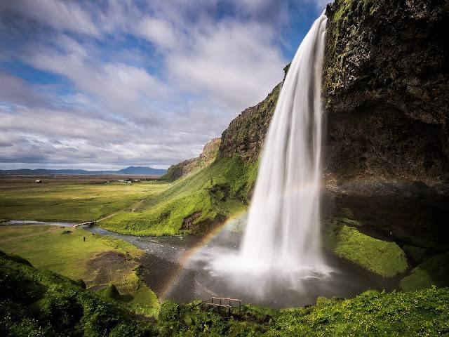 исландия водопад