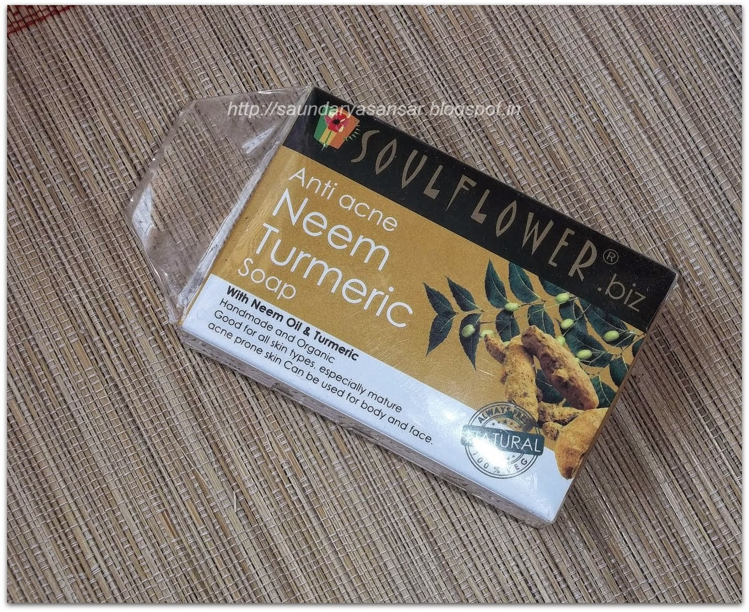 Soulflower Anti Acne Neem & Turmeric Soap- Review