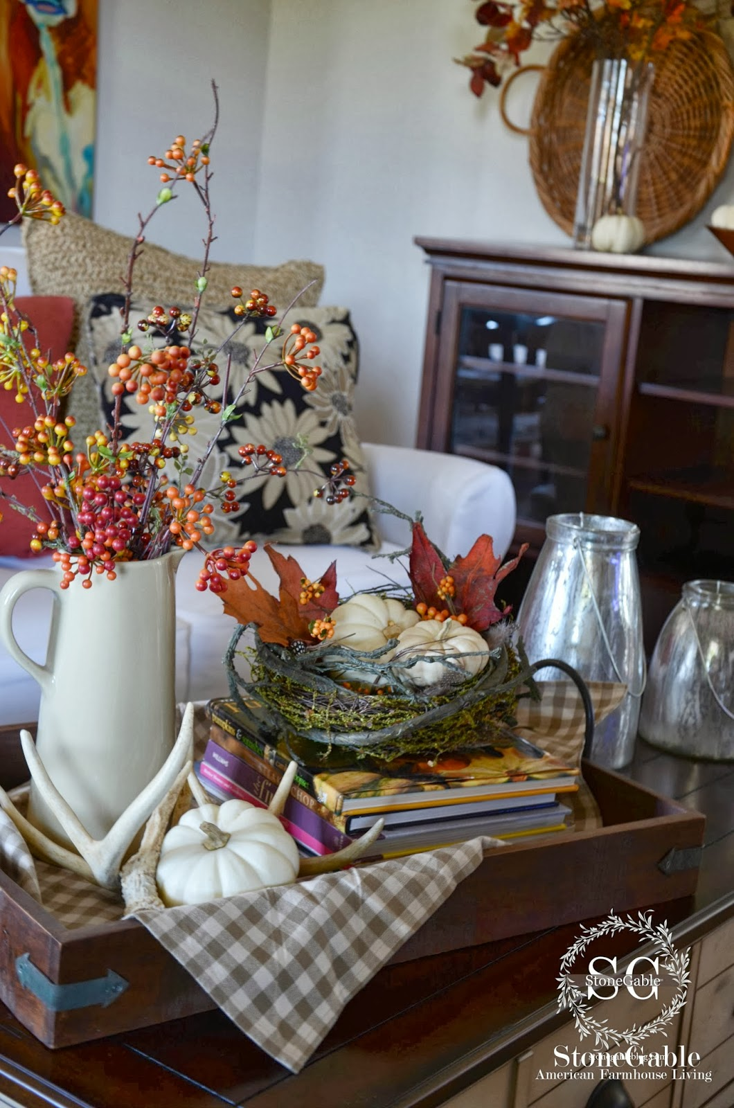 Fall home tour and a 1 500 giveaway stonegable for Fall home decor