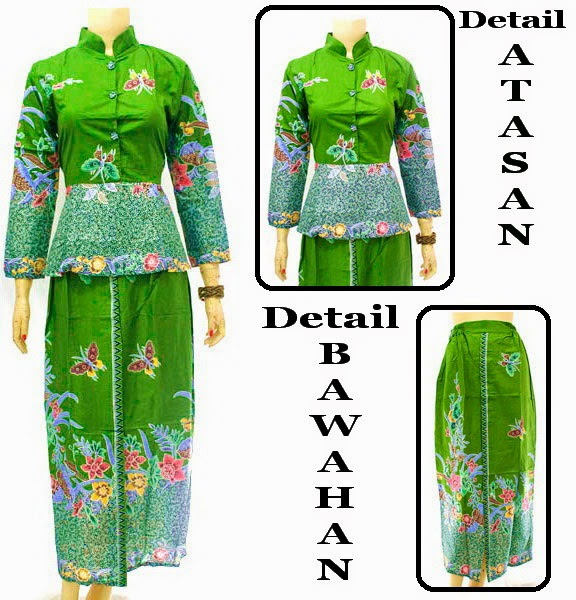 Baju Batik Dress Muslim Motif Batu