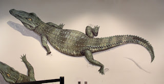 Crocodile Painting in Crocodile Cafe