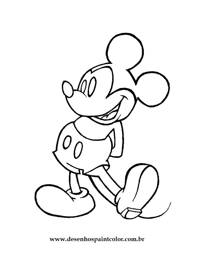Desenho como desenhar Mickey Mouse pintar e colorir
