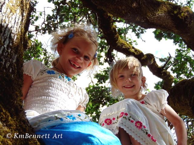 Pittman girls in tree