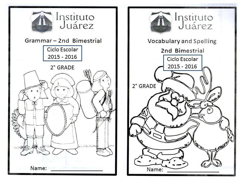 Instituto Juárez 2° Primaria: Portadas de inglés segundo ...