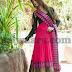 Pink Thread Work Anarkali Churidar