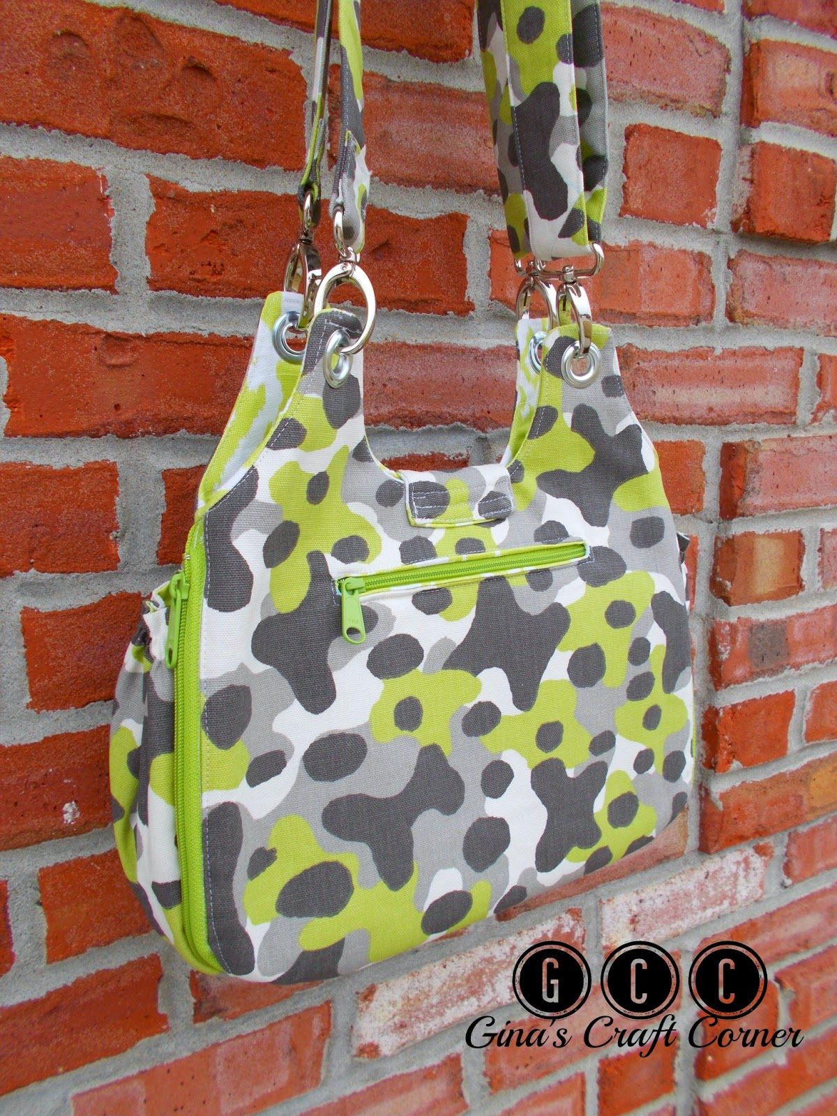 Concealed Carry Purse in Mantis Green by Ginas Craft Corner