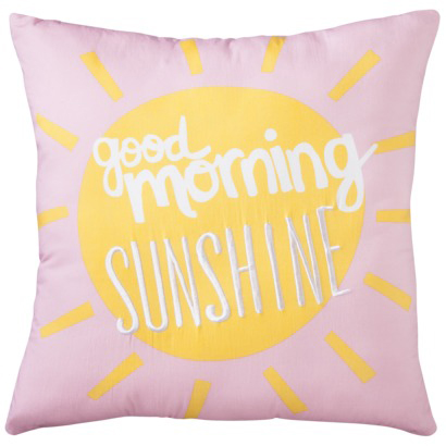 Good Morning Sunshine Pillow from Target