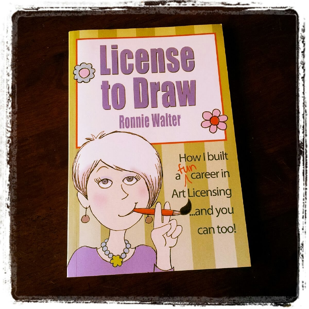 License to Draw book, Ronnie Walter, blog giveaway