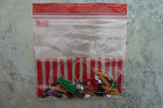 Toddler busy bag activity - threading