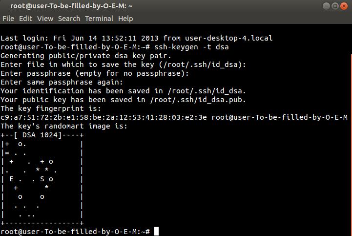 ssh-keygen script empty passphrase