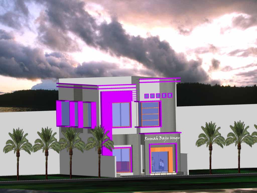 lansekap dan arsitektur gambar rumah dalam 3d