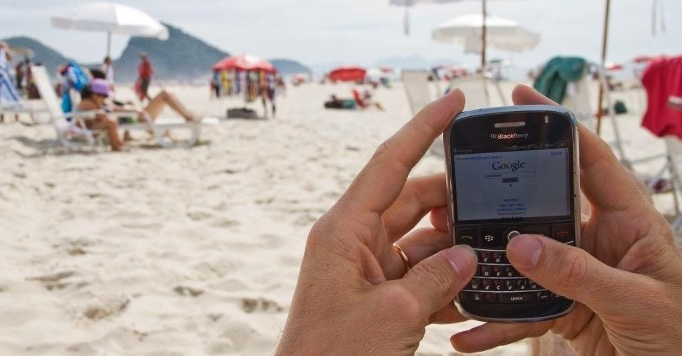 acesso internet praia