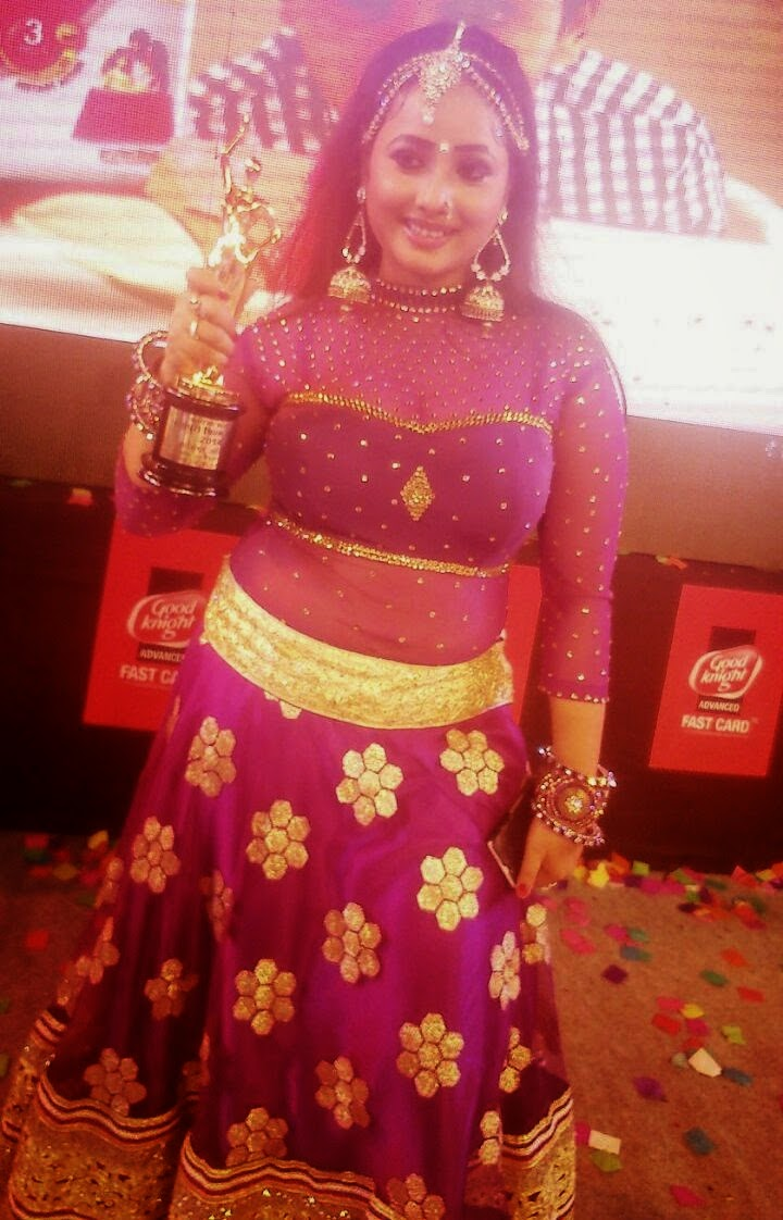 Actress Rani Chatterjee Received Best Actress Award in Bhojpuri Award 2014 for Film Prem Diwani