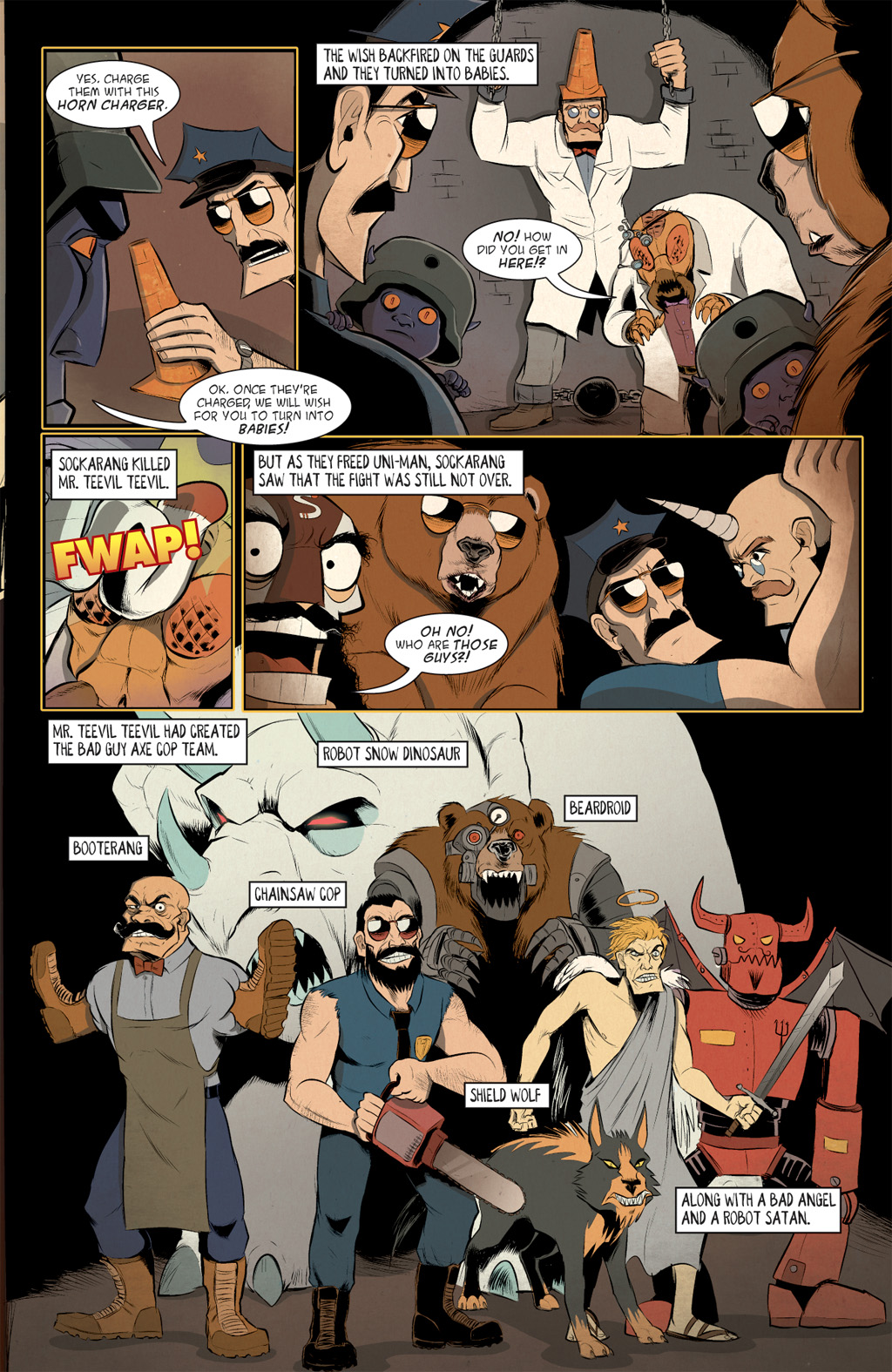 Read online Axe Cop: Bad Guy Earth comic -  Issue #3 - 9