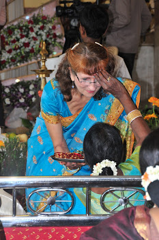 Susan and guest at wedding in Bengaloru, India