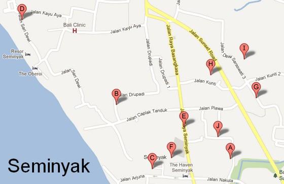 Villas in Seminyak, Bali Indonesia
