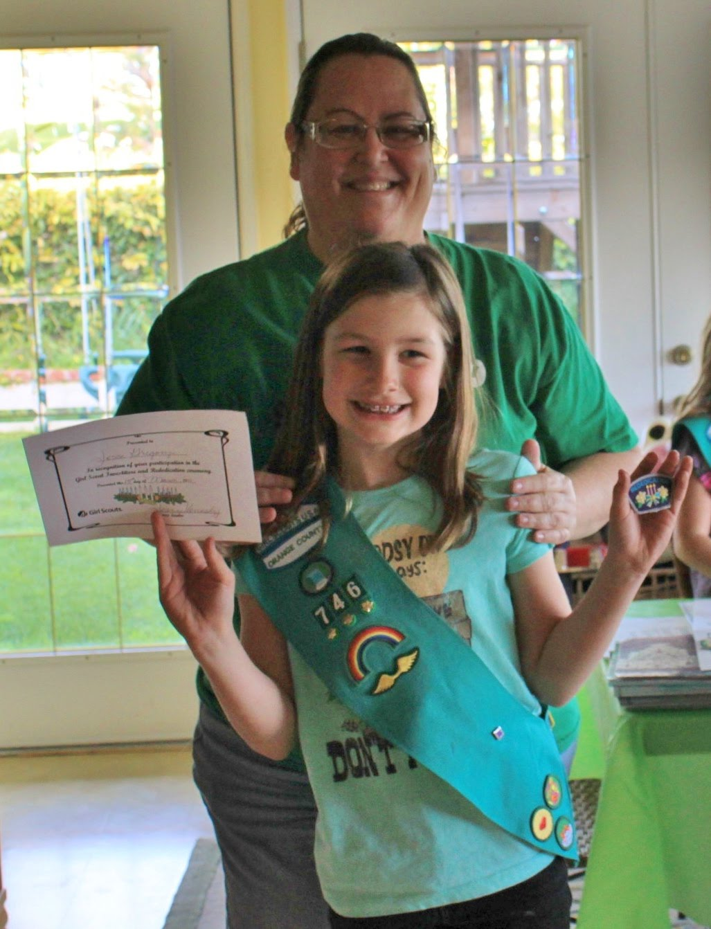 Jesse was also happy about rededicating herself to Girl Scouts and ...