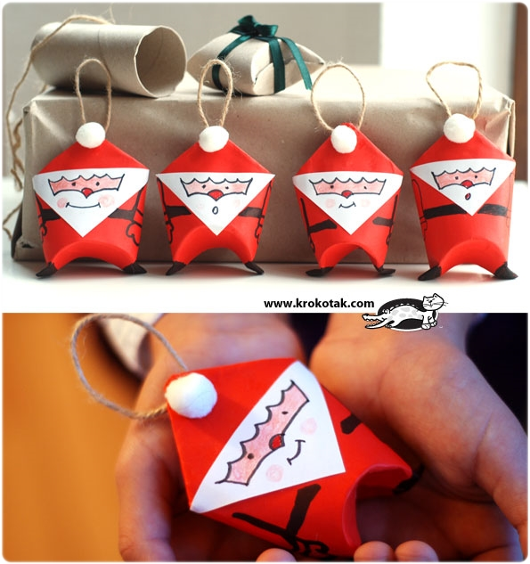 Santa Claus DIY rollo papel