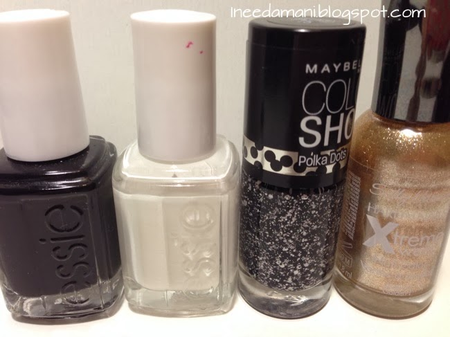 essie licorice essie blanc maybelline color show polka dots clearly spotted sally hansen xtreme wear golden i oreo nails