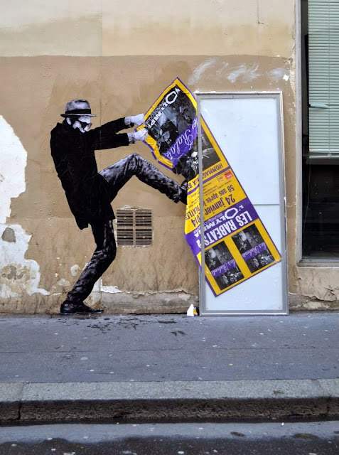 """Iconoclasme"" New Street installation by French artist Levalet on the streets of Paris. 1"