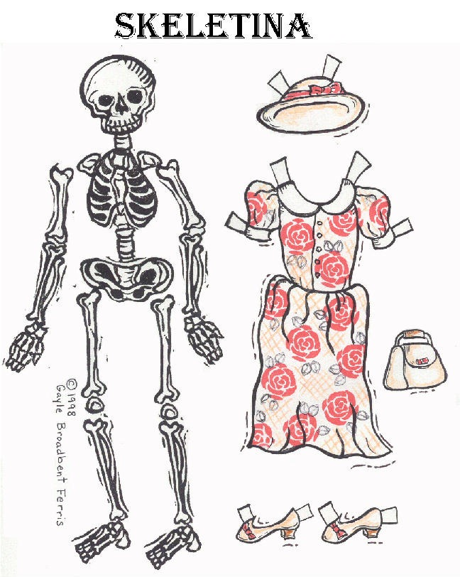 Esqueletos para imprimir y armar - Imagui