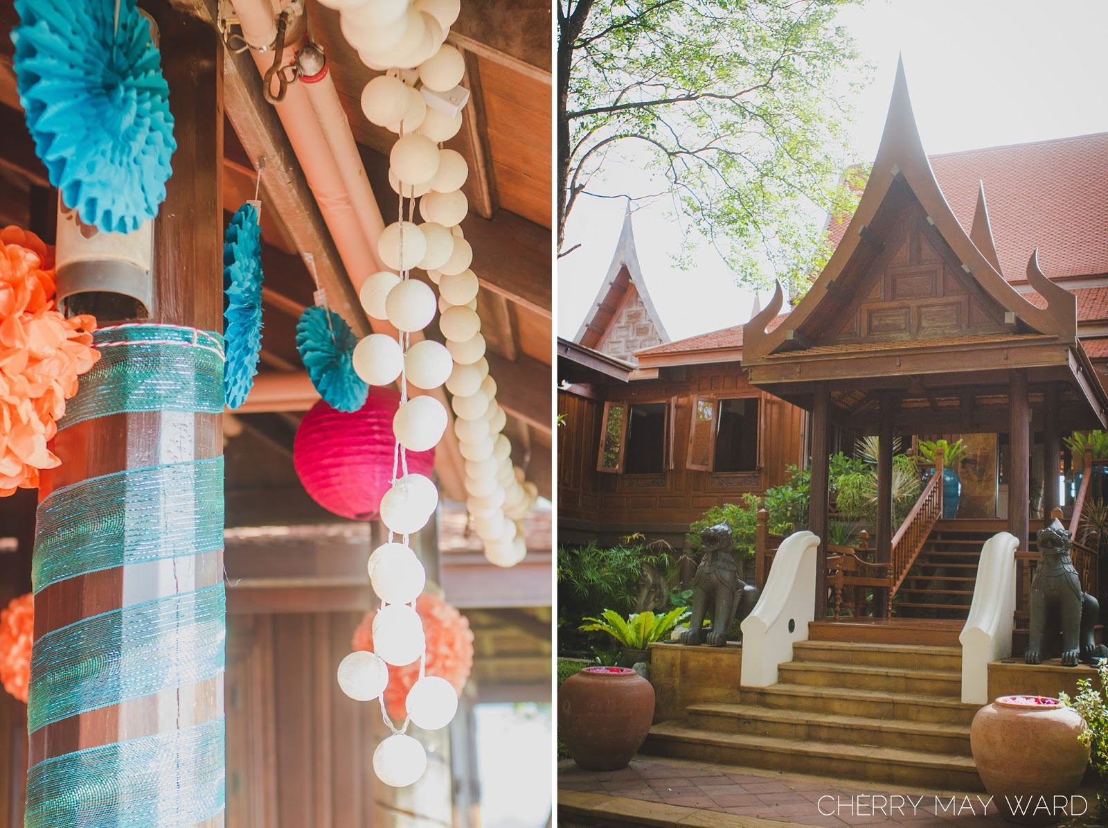 Thai villa on the mountain, villa with sunrise and sunset views, Koh Samui classic Thai villa, DIY decorations for a wedding, colourful DIY wedding decorations, fun decorations, colourful decorations, wedding decor, wedding decorations, do it yourself, DIY wedding in Thailand, Cherry May Ward Photography